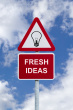 Fresh-ideas-sign-in-the-sky