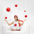 Juggles-with-red-balls