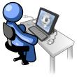 Blue-man-at-computer