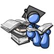 Blue-man-student